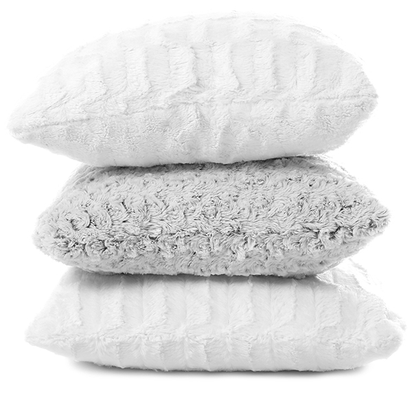 clean pillows and cushions